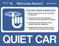 Physical UX: Redesigning NJ Transit's Quiet Car Sign
