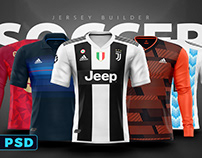 Adidas Football / Soccer shirt builder PSD template