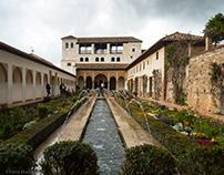 Alhambra Stadtburg Grananda Spanien