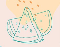 food and pattern illustration