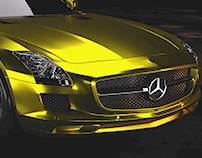 Mercedes Benz SLS AMG - Full CGI