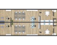 Floor plan 2D rendering in San Mateo (California)