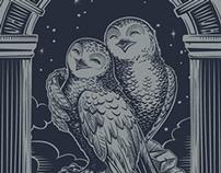 Owl mania, laser engraving