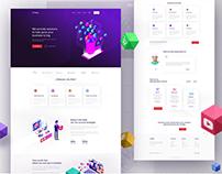 """Finto"" Digital Marketing Landing Page design"