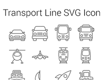 Tansport Line SVG Icon