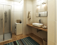 Визуализации ванных комнат • Bathroom visualisations