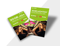 Flyer Design | 30GB MONTHLY | ZONG 4G A NEW DREAM