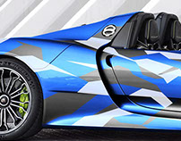 Porsche 918 Hybrid partial wrap graphic concepts