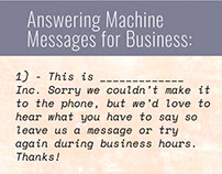 Voicemail greeting examples on behance business answering machine messages m4hsunfo