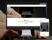 TrakQ, a web design for product promotion