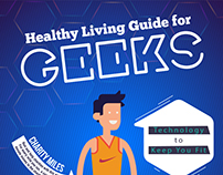 Healthy Living Guide Infographic