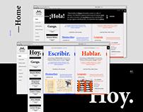 Museo del Libro y la Lengua / Diseño Web.