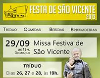 Flyer - Festa de São Vicente 2013