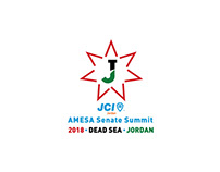 AMESA Senate Summit 2018 logo - Dead Sea, Jordan