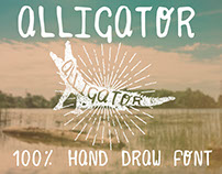 Alligator Hand Draw Font