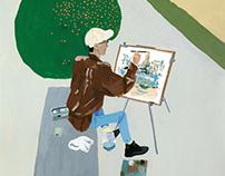 Setsu Nagasawa portrait painting