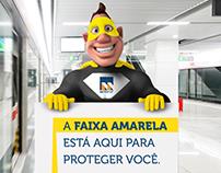 Faixa Amarela | Metrô-DF