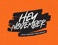 Free Hey November Brush Font