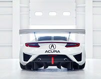 Acura NSX GT3 with Benedict Redgrove