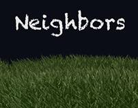 Neighbors   3D illustration