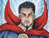 Upperdeck Marvel VIP Triple Panel Sketch Cards