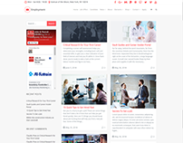 Blog Masonry Left Sidebar - Employment WordPress Theme