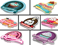 bakery ,sweet,food,fast food,cupcake logos
