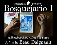 """""""Bosquejario I"""" promo material"""