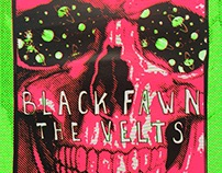 Black Fawn + The Velts Screen printed poster