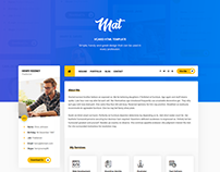 Mat - vCard & Resume Template Design
