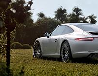 Porsche 3D scene