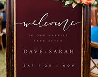 Customizable Welcome Wedding Posters