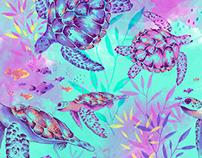TURTLES / SWIMWEAR PRINTS / OFFCORSS