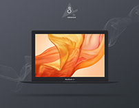 Free Dark Macbook Air Mockup