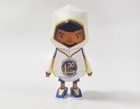 033_Stephen Curry [Paper Toy Boogie Hood]