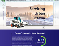 Precision Snow Removal Website Design