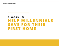 4 Ways to Help Millennials Save for Their First Home