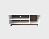 White and Walnut Aria Sideboard