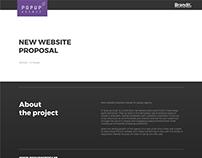 website popup
