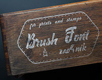 Brush Font for print Zao4nik
