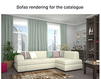 Sofas rendering for the catalogue