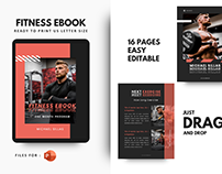 Fitness trainer ebook template