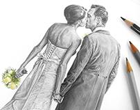 'Laura & Andy' - Wedding Sketch