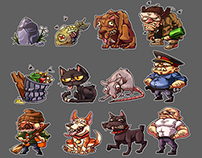 art for mobile games (figures, animations, etc.)