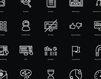 Icon set for UX tools