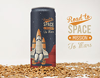 Front 12oz Malt Beer Can Mockup