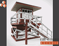 Lifeguard Stand 3d model