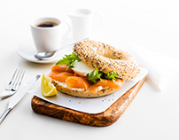 Delta Airlines Menu photography Art Direction