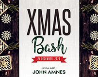 X-Mas Bash – Free PSD Flyer Template
