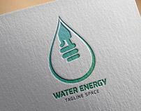 Water Energy Logo Template